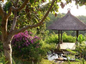 Gazebo in the 'jungle' of Villa Bali Breeze