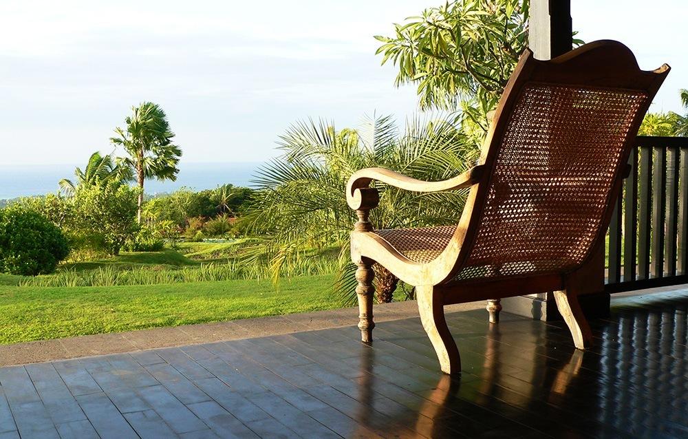 View Bali Sea from the verandah of Villa Bali Breeze